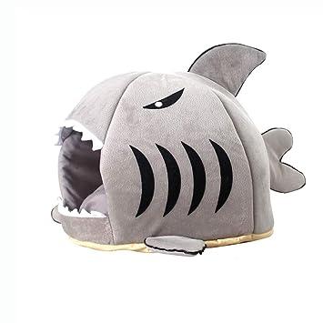 Mascota Nido Arena para Gatos Cuatro Estaciones tiburón General Invierno cálido casa de Gato casa de