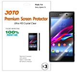 JOTO Premium Screen Protector -- Sony Xperia Z1 (Honami) Ultra Crystal Clear (Invisible) Screen Film Shield with Lifetime Replacement Warranty (3 Pack)