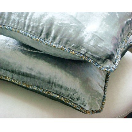 """22""""x22"""" Decorative Pillow Cover, Silver Pillow Case, Solid C"""