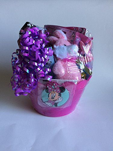 MINNIE MOUSE HAPPY GIRL GIFT BASKET PERFECT EASTER, BIRTHDAY, GETWELL, GRADUATION, AND ALL OCASSION GIFT