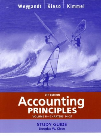 Accounting Principles, with PepsiCo Annual Report, Study Guide, Volume II, Chapters 14-27