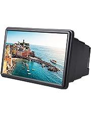 VBESTLIFE 3D-vergrootglas voor mobiele telefoon, 12 inch, vergroot scherm, 3D-film, videoscherm, versterker, bescherming van de ogen met reinigingsdoekje voor iPhone (zwart)
