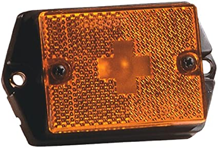 PC Rated Wesbar Side Marker Light with White Stud-Mount Base