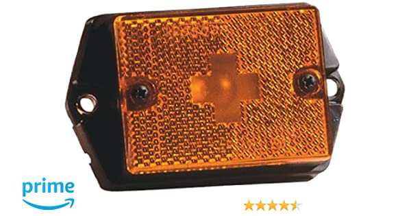 Wesbar Side Marker Light with White Stud-Mount Base PC Rated