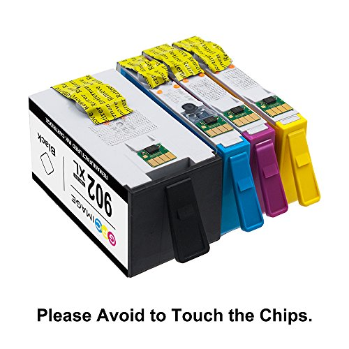 GPC Image 902XL 4 Pack Remanufactured Ink Cartridge Replace for HP 902XL 902 XL High Yield Work with HP OfficeJet Pro 6968 6978 6954 6978 6970 6975 6962 Printer (1 Black, 1 Cyan, 1 Magenta, 1 Yellow) Photo #9