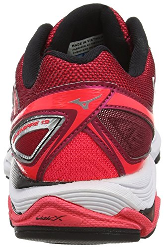 Mizuno Wave Inspire 13 (W), Zapatillas de Running Mujer, Red Rojo (Persian Red/silver/black)