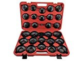 Harpow 30 Pcs Cap Type Oil Filter Wrench Set, 1 Pack