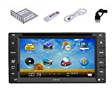Christmas Sale!!! VCD Pupug 2015 newest 2 Universal DIN Car DVD Player with 3G Monitor Internet Dongle GPS Navigation Double DIN AUX PC Radio Stereo In Dash 2DIN MP3 Head Unit CD 2DIN HD Autor