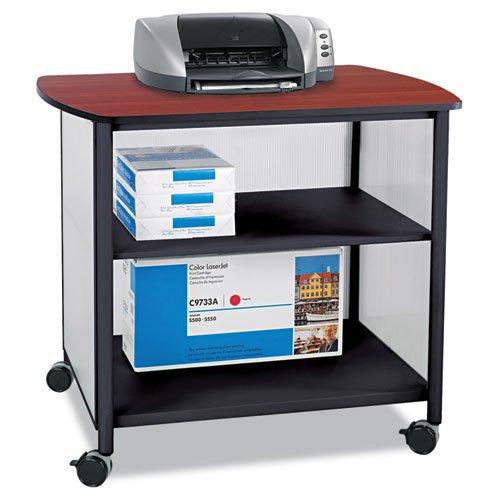 - Safco 1858BL Impromptu Deluxe Machine Stand, 34-3/4w x 25-1/2d x 31h, Cherry/Black