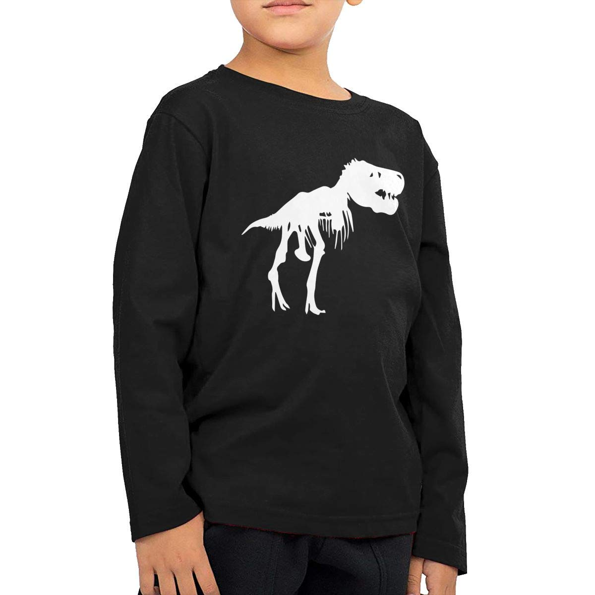 Baby Girls Childrens T Rex Skeleton Dinosaur Printed Long Sleeve 100/% Cotton Infants Tops