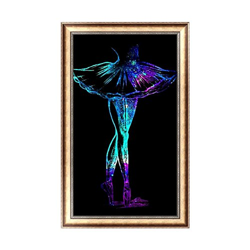 Whitelotous Dancer DIY 5D Diamond Painting Kit Needlework Embroidery Cross Stitch Mosaic Art Craft Gift Home Decor 12