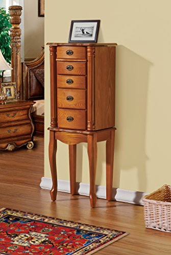 CTE 4 Drawers Jewelry Armoire - OAK