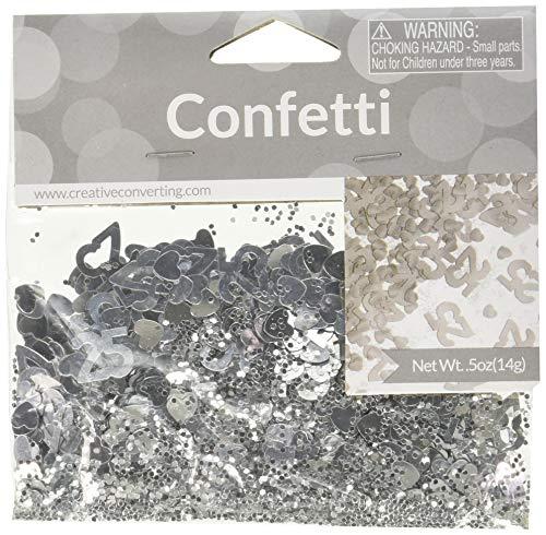 Creative Converting Confetti 25Th Anniversary Party Supplies, Multicolor ()