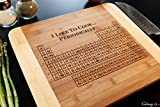 Personalized Cutting Board Engraved Bamboo Chopping Block HDS - Periodic Table