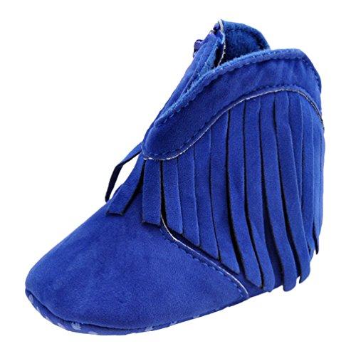 CHENGYANG Baby Schönen Winter Warme Weiche Sohle Schneeschuhe Krippe Schuhkleinkind Stiefel Schuhe Blau#10