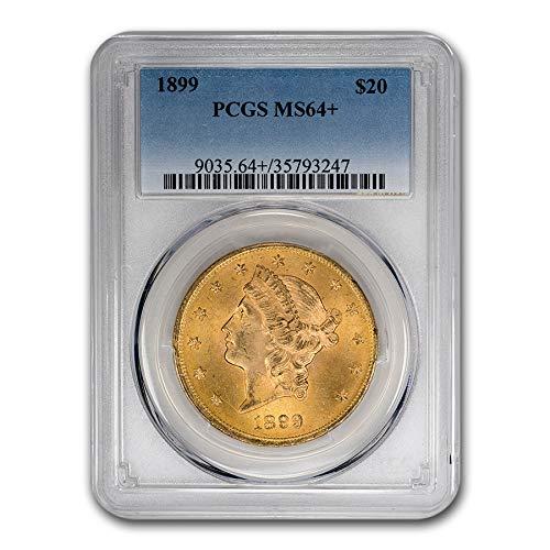 1899 $20 Liberty Gold Double Eagle MS-64+ PCGS G$20 MS-64 PCGS