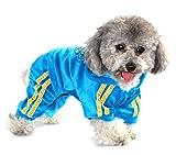 PEGASUS Rhinestone Crown Small Dog Jumpsuit Pajamas Sweatshirt Hoodie Sweater Tracksuit Puppy Pet Cat Clothes Velvet Blue M by PEGASUS