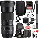 Sigma 150-600mm f/5-6.3 DG OS HSM Contemporary Lens for Canon EF with Bundles: SanDisk Extreme Pro 64gb SD Card + More