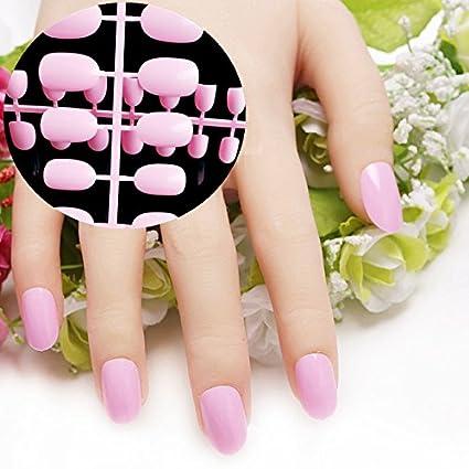 Echiq - Punta redondas ovaladas de cobertura completa para uñas postizas; manicura,