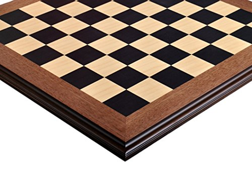 (The House of Staunton Blackwood & Maple Superior Traditional Chess Board - 2.25