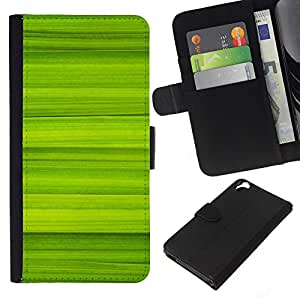 Stuss Case / Funda Carcasa PU de Cuero - Simple Green Pattern 40 - HTC Desire 820