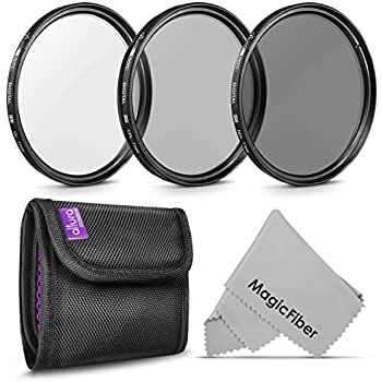 77MM Altura Photo Professional Photography Filter Kit (UV, CPL Polarizer, Neutral Density ND4) for Camera Lens with 77MM Filter Thread + Filter Pouch