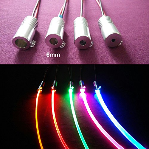 1 5w dc 12v car home light side glow fiber optic light source illuminator 6mm green lamps. Black Bedroom Furniture Sets. Home Design Ideas