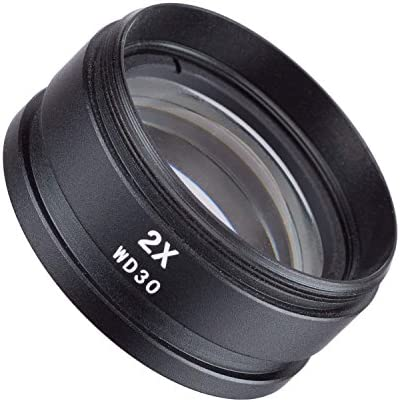 Vision Scientific VAF20 2X Barlow Lens for Stereo/Industrial Microscopes (48mm) (Suitable for VS-1F VS-2F VS-3F VS-5F VS-7F VS-8F VS-9F Series)