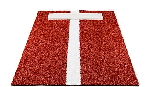 Pro-Ball Softball Pitching Mat with Power Line, Clay - 3 feet x 5 feet
