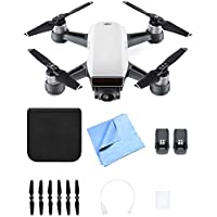 DJI CP.PT.000731 SPARK Intelligent Portable Drone Alpine White Spare Battery Bundle