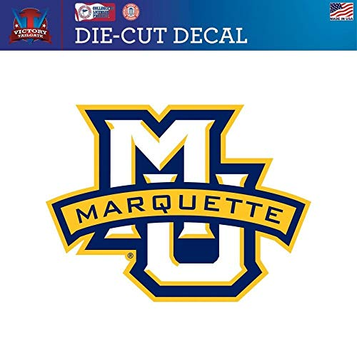 Victory Tailgate Marquette University Golden Eagles Die-Cut Vinyl Decal Logo 2(12 Inch)