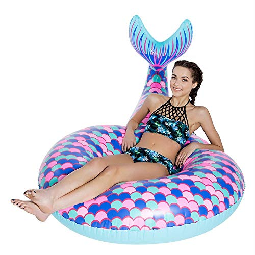 Giant Inflatable Mermaid Swim Circle, Pool Float for Party, Happy Time in Summer (Color : Purple) by Cass (Image #3)