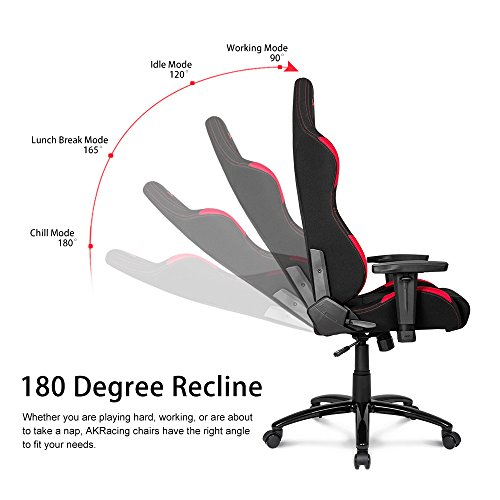 51YDJFU6INL - AKRacing-K-7-Series-Premium-Gaming-Chair-with-High-Backrest-Recliner-Swivel-Tilt-Rocker-and-Seat-Height-Adjustment-Mechanisms-with-510-warranty