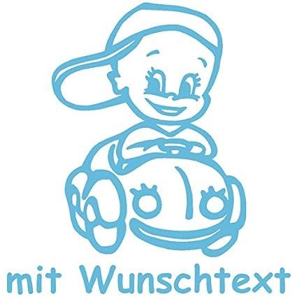 Babyaufkleber mit Name/Wunschtext - Motiv 146 (16 cm) - 20 Farben und 11 Schriftarten wählbar