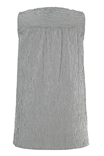 Femme Haut Femme T Rond Popken Shirt Blouse Tailles Col t 716256 Top Manches Printemps Large Grandes Ulla Tunique Longues Casual Coton Noir xaqvd5wIa