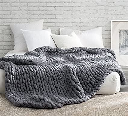 b27269667a Amazon.com: Pure Australian Woolen Blanket - Chunky Knit Oversized ...