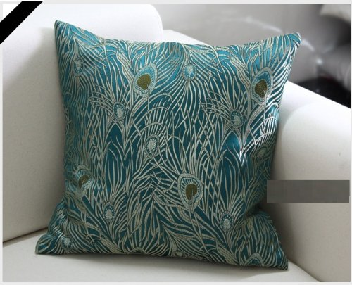 pottery c peacock pillow embroidered products barn feather