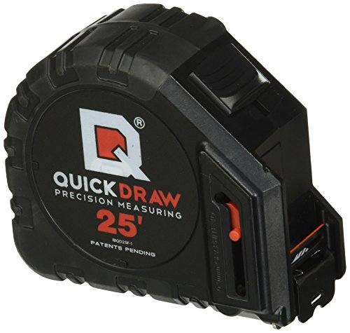 Quickdraw Diy Self Marking 25 Foot Tape Measure   1St Measuring Tape With A Built In Pencil   Best Steel Tape   Power Locking Tape Ruler