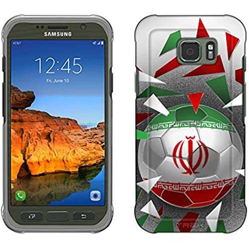 Samsung Galaxy S7 Active Case, Snap On Cover by Trek Soccer Ball Iran Slim Case Sales