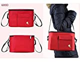 STROLLER ORGANIZER Accessories Caddy by Candy Cot: Diaper Tote Bag and console with Full Zipper, Shoulder Strap, Extra Large Storage, sturdy for iPhones, wallets, diapers, books, toys and bottles