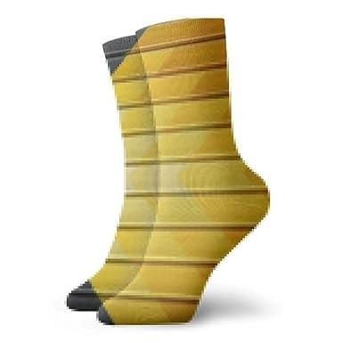 Panel de metal amarillo y negro Calcetines cortos para ...