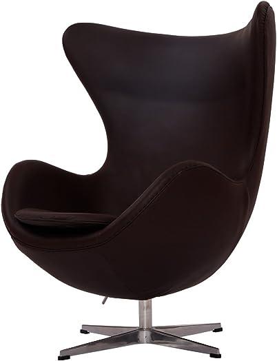 MLF Arne Jacobsen Egg Chair 100 Imported Italian Leather Hand Sewing. Adjustable Tilt. High Density Foam. Swivel