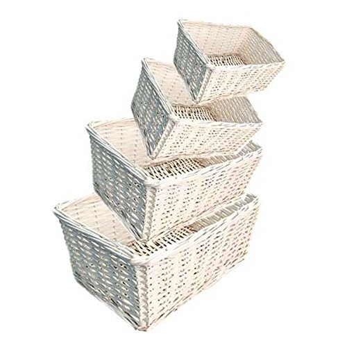 White Wicker Set (Set of 10)(40 Baskets) by suppliesforgiftbasket