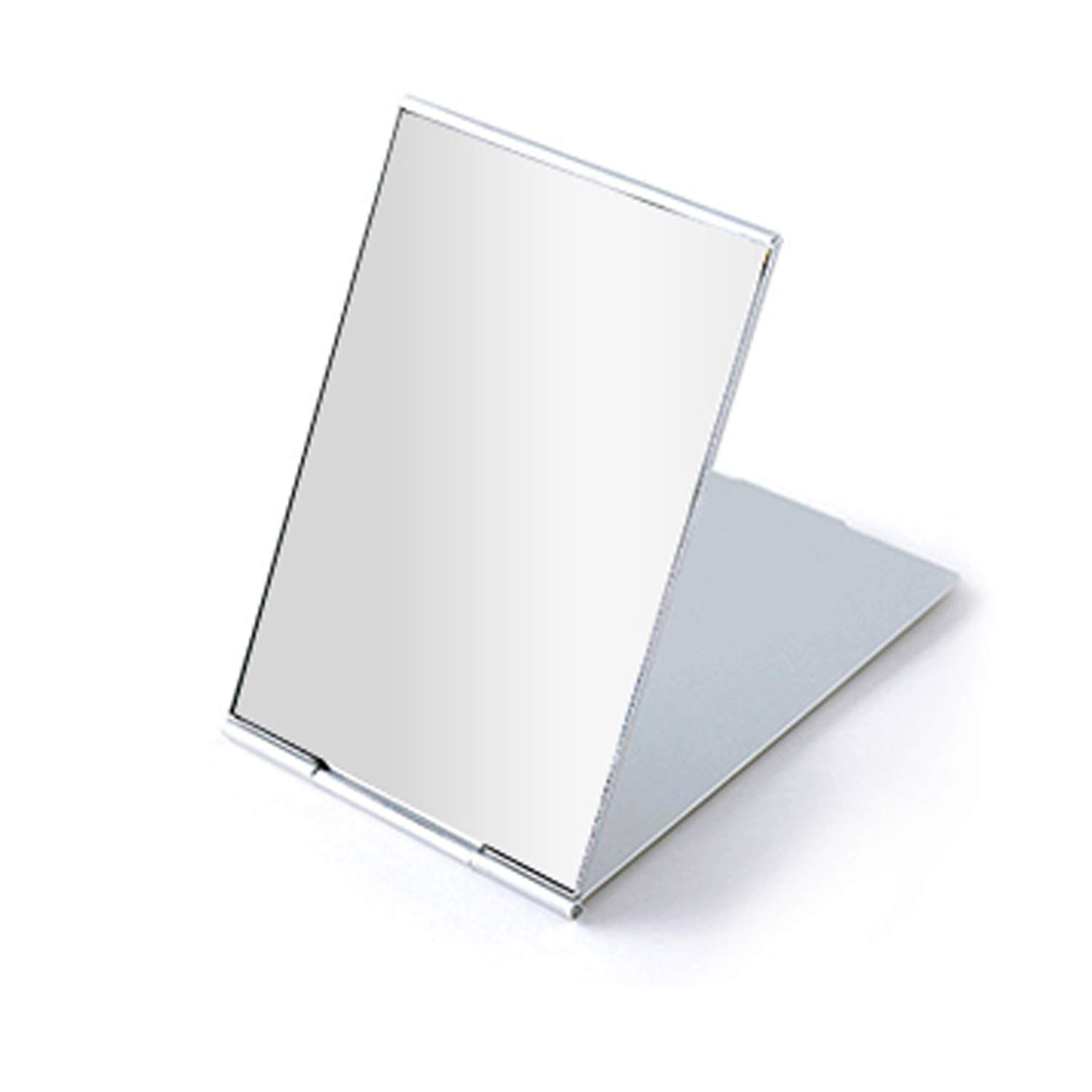 Portable Folding Mirror, Ultra-Slim Durable Makeup Mirror, Small Tabletop Mirror for Travel,Aluminum Shell, Mini Size, 3.3""
