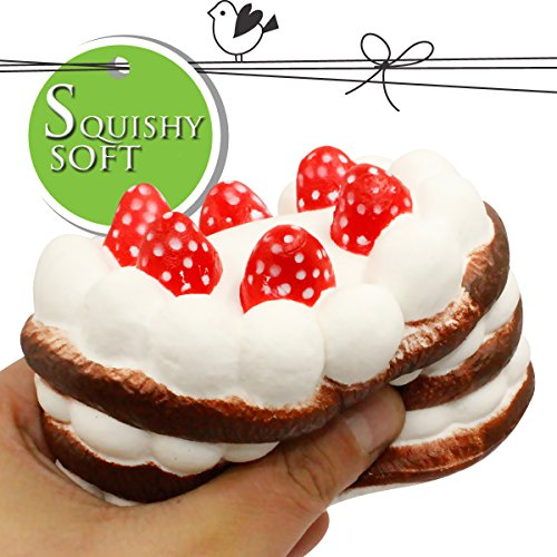"Squishy Cake, iBagke 4.7"" Squishies Slow Rising Birthday Cake Cream Big Scented Hand Wrist Toy Soft Simulation Collection"