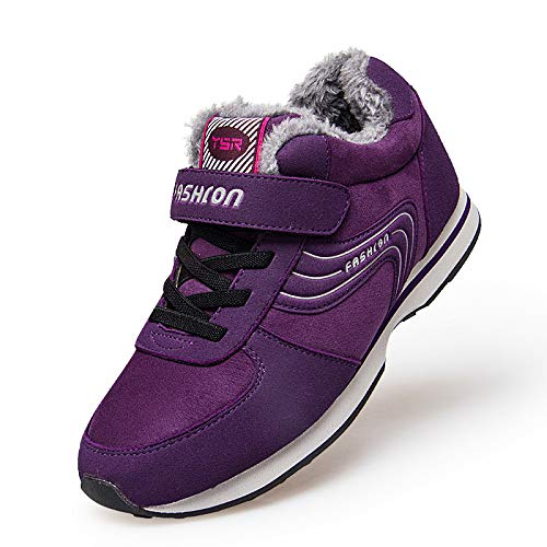 Mother Old Hair Middle Outdoor Women Cotton aged Father Plush And Purple Plus Winter Shoes Warm FPHPTA