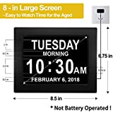 "Digital Calendar Alarm Day Clock - with 8"" Screen"