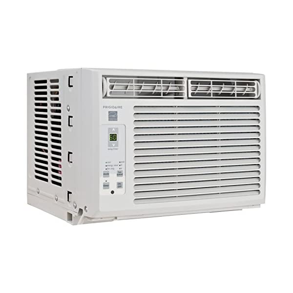 Frigidaire Window-Mounted Compact Air Conditioner with Temperature Sensing Remote...