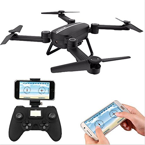 OUKU X8tw Drone RC Quadcopter Altitude Hold Headless RTF 3D 360 Degree FPV VIDEO WIFI 720P HD Camera 6 axis 4CH 2.4Ghz Steady Easy Fly, Height Hold for learning, Black