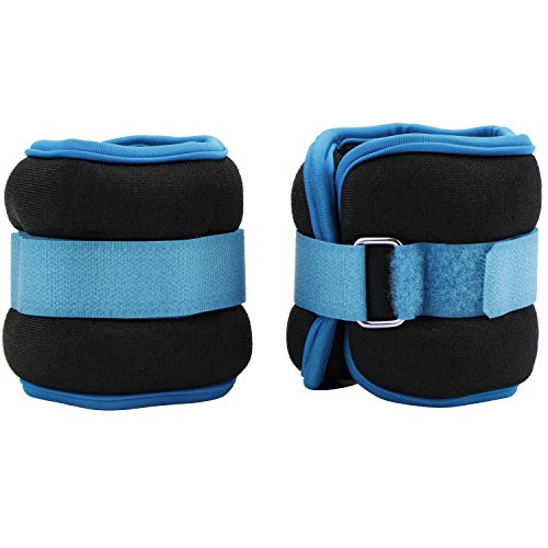 Reehut Ankle Weights, Durable Wrist Weight (1 Pair) w/Adjustable Strap for Fitness, Exercise, Walking, Jogging, Gymnastics, Aerobics, Gym (2lbs 3lbs 4lbs 6lbs 8lbs 10lbs)